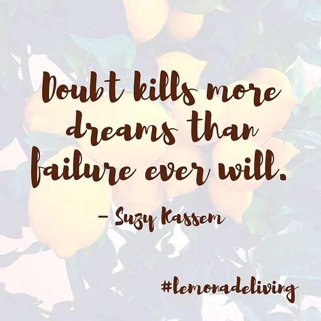 """Never give up on your dreams!  And don't forget that all of your """"failures"""" along the way are just learning moments 🙃 . . Our failures simply just tells us what's not working, which then helps you get one step closer to what will! . . Keep making lemonade my friends! Don't doubt yourself and those around you! Lift each other up and believe in one another! . . Let us all strive to reach our human potential 🙌 Let us all try to be the best versions of ourselves that we can be! Cheers, to making lemonade 🍋😋 . . #neverdoubt #failureispartoftheprocess #nevergiveup #believeinoneanother  #believeinyourself #believeinthehumanpotential #weareone #lemonadeliving🍋"""