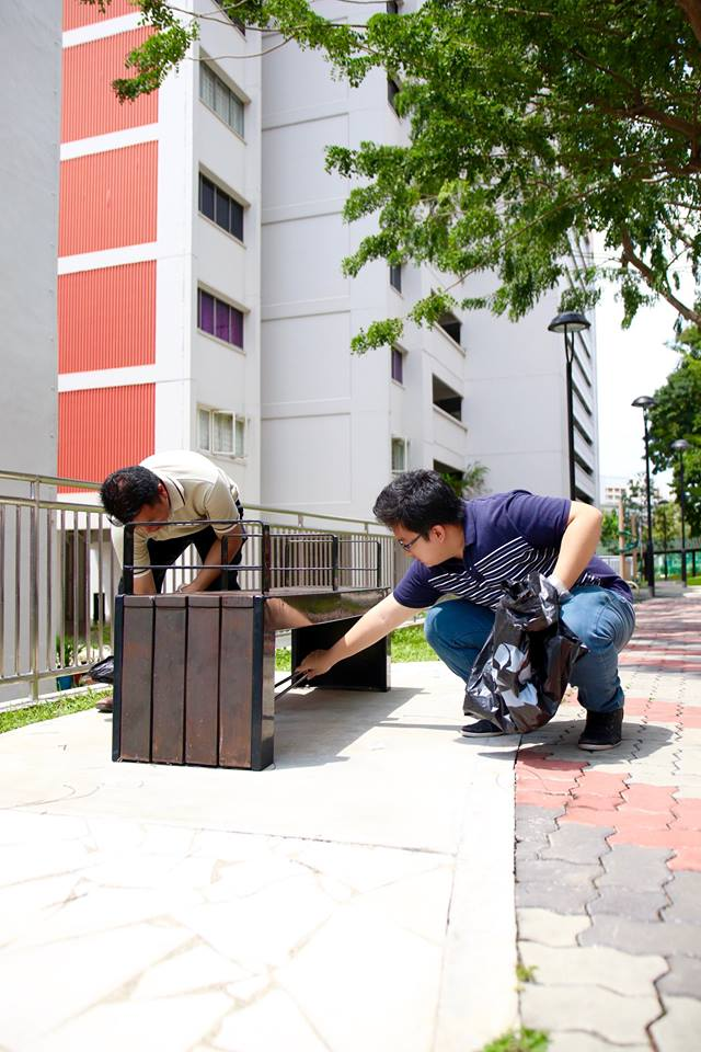 Residents working together to keep the estate clean