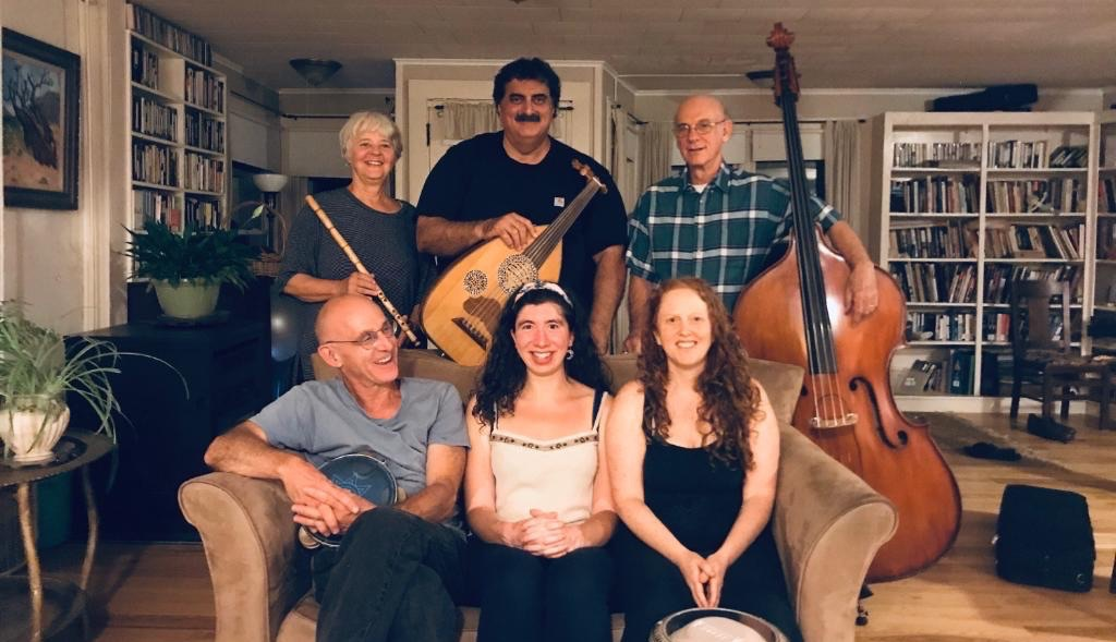 zaytune - Local Valley group playing a variety of traditional and contemporary Arabic music. It features Nazira Bashour (vocals), Bob Davis (oud), Dan Muscat (qanun), Joe Blumenthal (bass), Sharon Arslanian (nay), Amanda Turk (percussion), and Sahina (zils/dance).