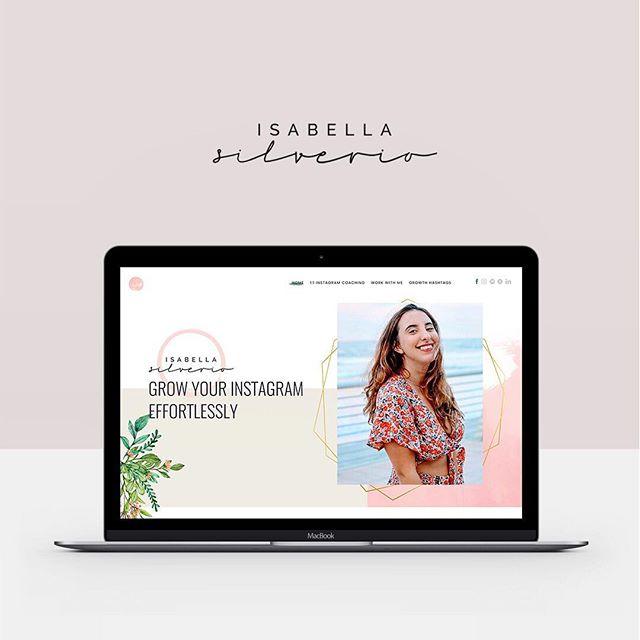 PSA: @isabella.guava'a new site is LIVE! ✨ We gave her a full rebrand and created a custom @kajabi design. Our goal was to create an interwebs home for Isabella that reflected her bright, quirky and feminine persona! We gave her an airy color palette, a custom floral pattern and complimentary typefaces. She was SUCH a joy to work with and we're super excited to see her brand further blossom! ✨ Check out her full design at isabellasilverio.com (and follow her on insta for your daily dose of truthbombs)