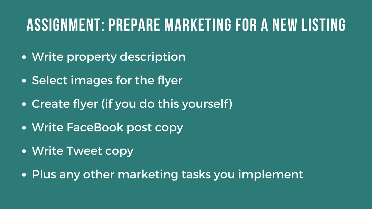 Listing Marketing Skill Test