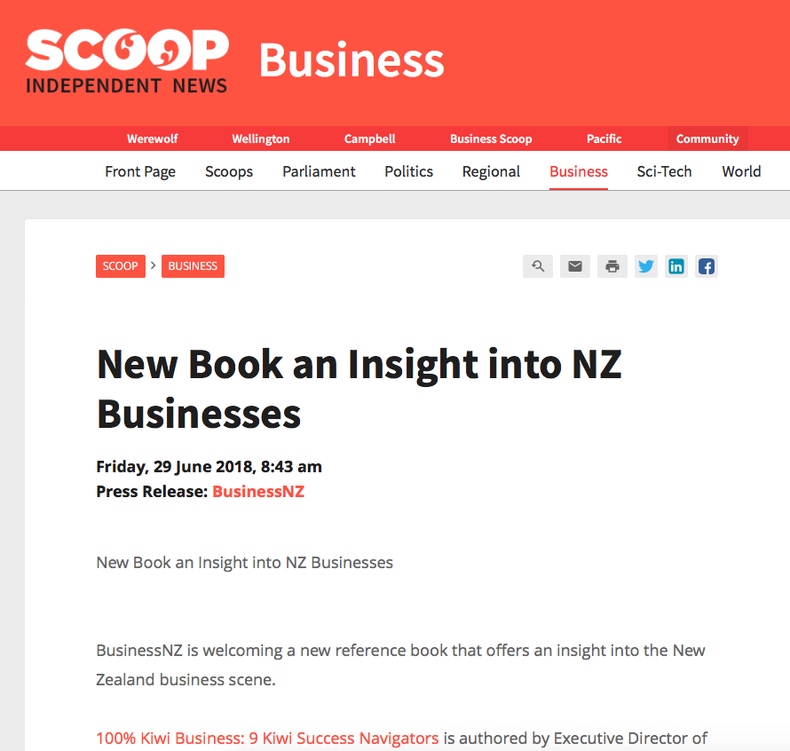 New Book an Insight into NZ Business