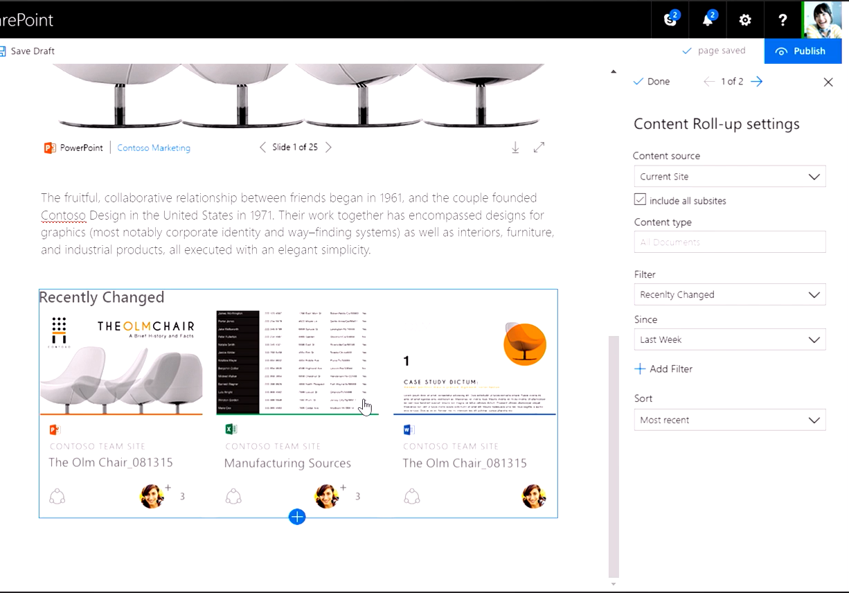 SharePoint page
