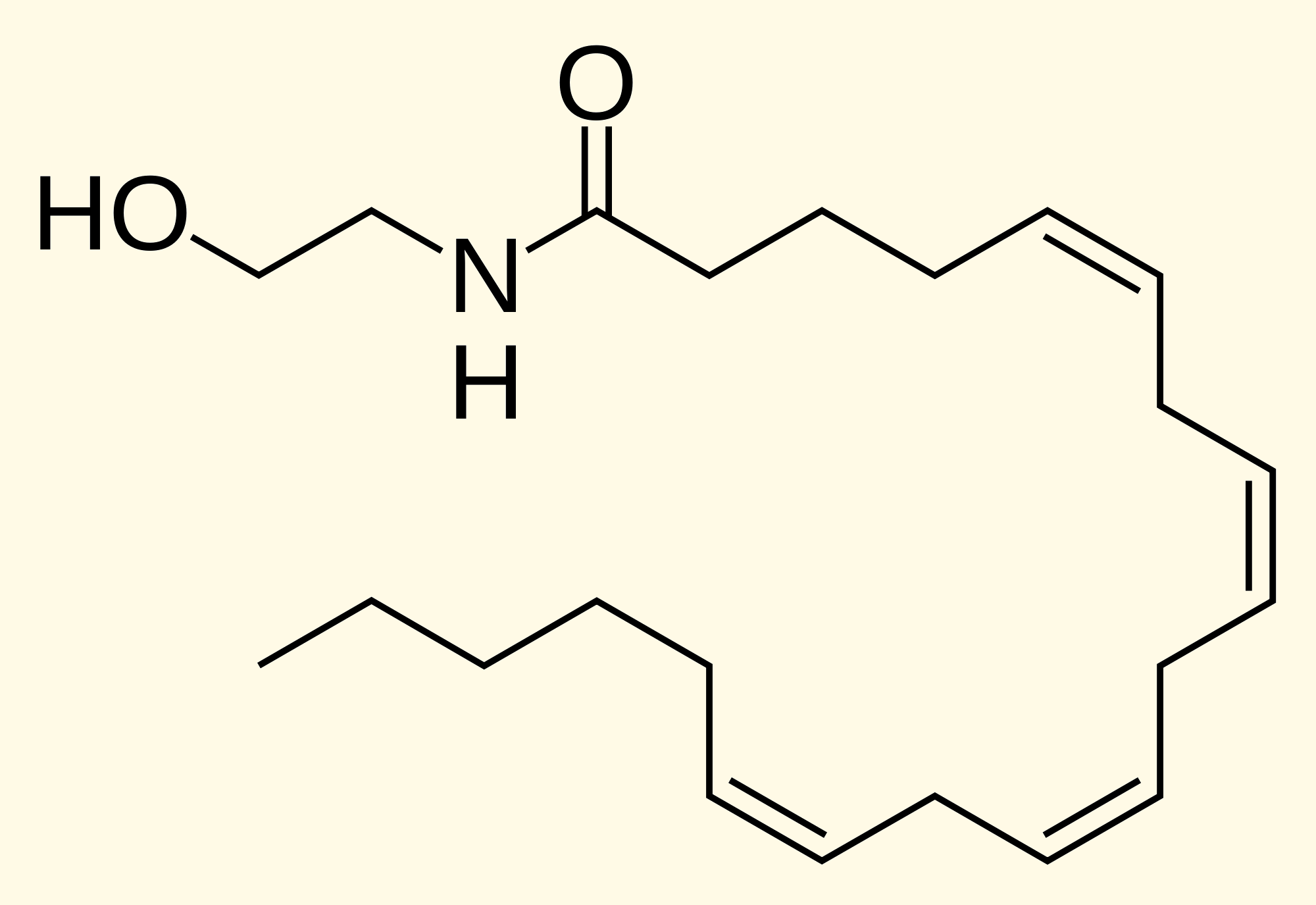 Anandamide causes the runner's high effect.