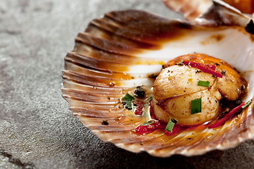 STEAMED SCALLOPS WITH ASIAN FLAVOURS