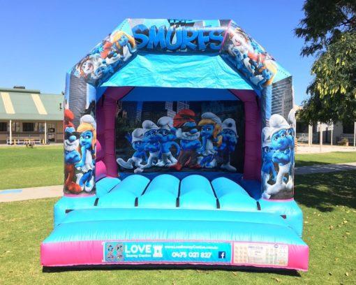 Smurfs Bouncy Castle Hire Baldivis