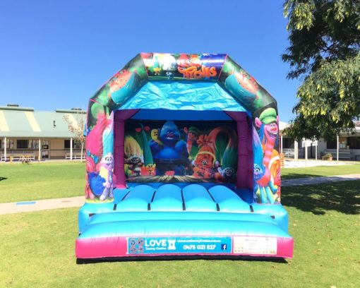 Trolls Bouncy Castle Hire Baldivis