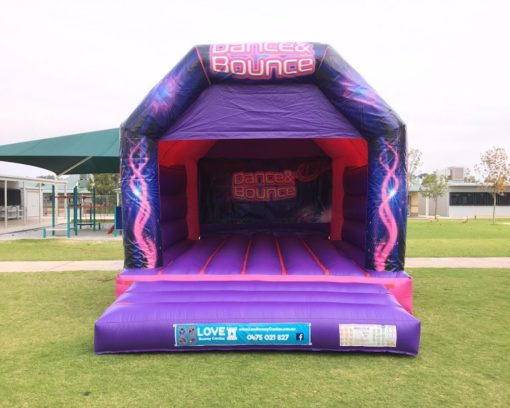 Pink Dance and Bouncy Adult Bouncy Castle Hire Baldivis