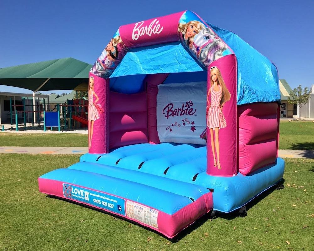 Barbie bouncy castle hire Rockingham