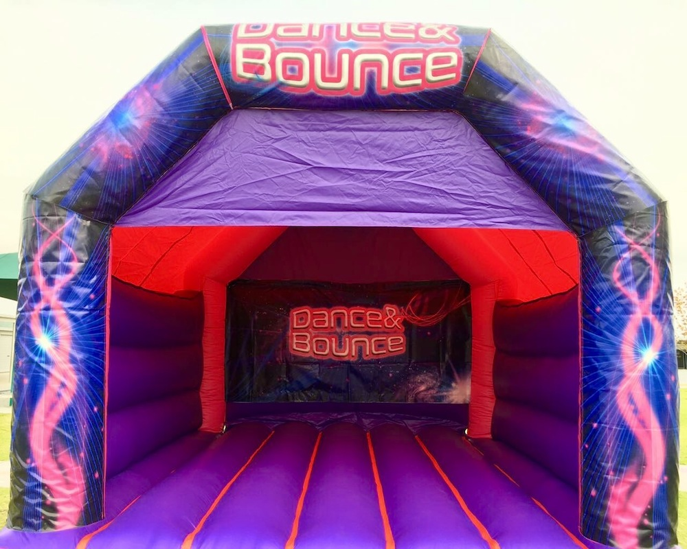 Pink Dance and Bouncy Adult Bouncy Castle Hire Mandurah