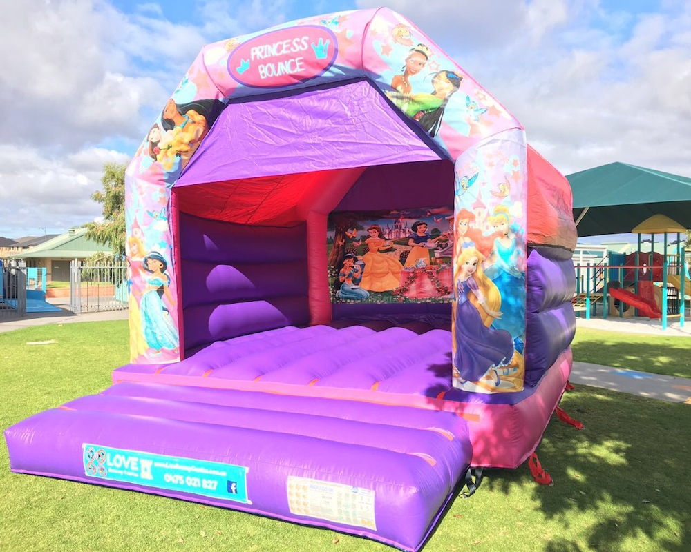 Disco Princess Adult Bouncy Castle Hire Rockingham