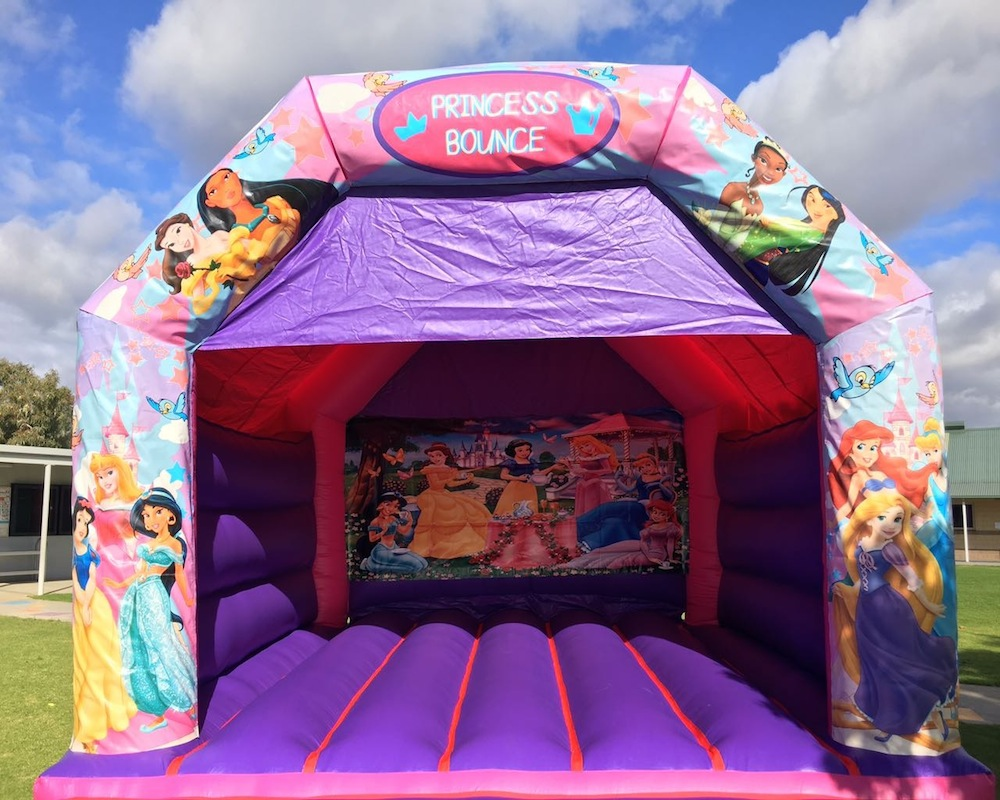 Disco Princess Adult Bouncy Castle Hire Mandurah