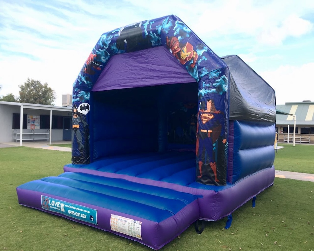 Adult Super Heros Bouncy Castle Hire Rockingham