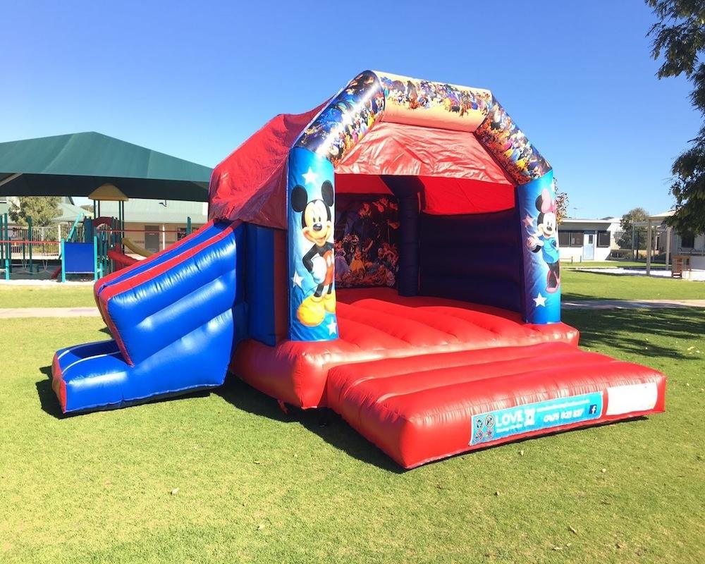 Disney bouncy castle hire with slide Rockingham