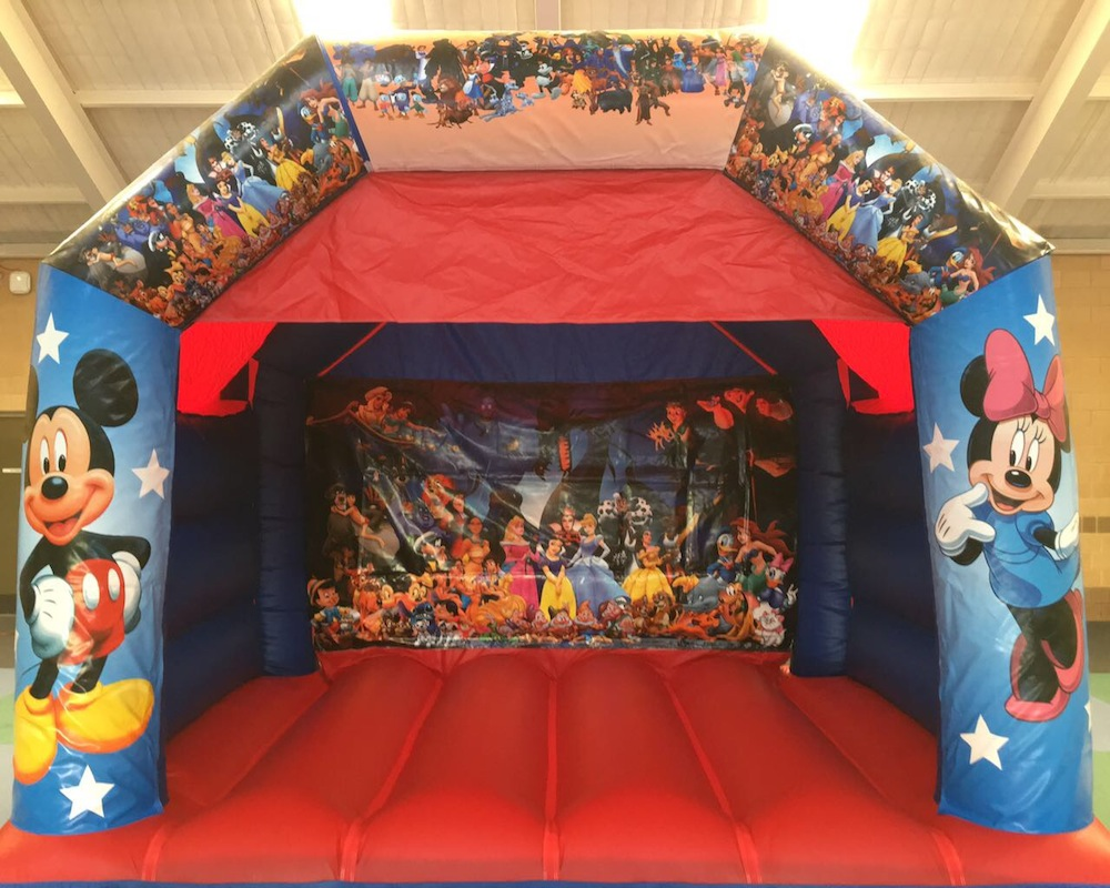 Disney bouncy castle hire with slide Mandurah