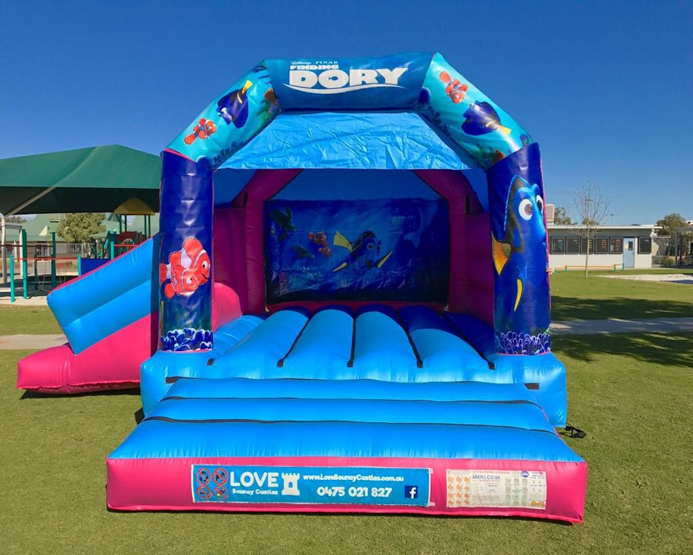 Finding Nemo Bouncy Castle Hire With Slide Baldivis