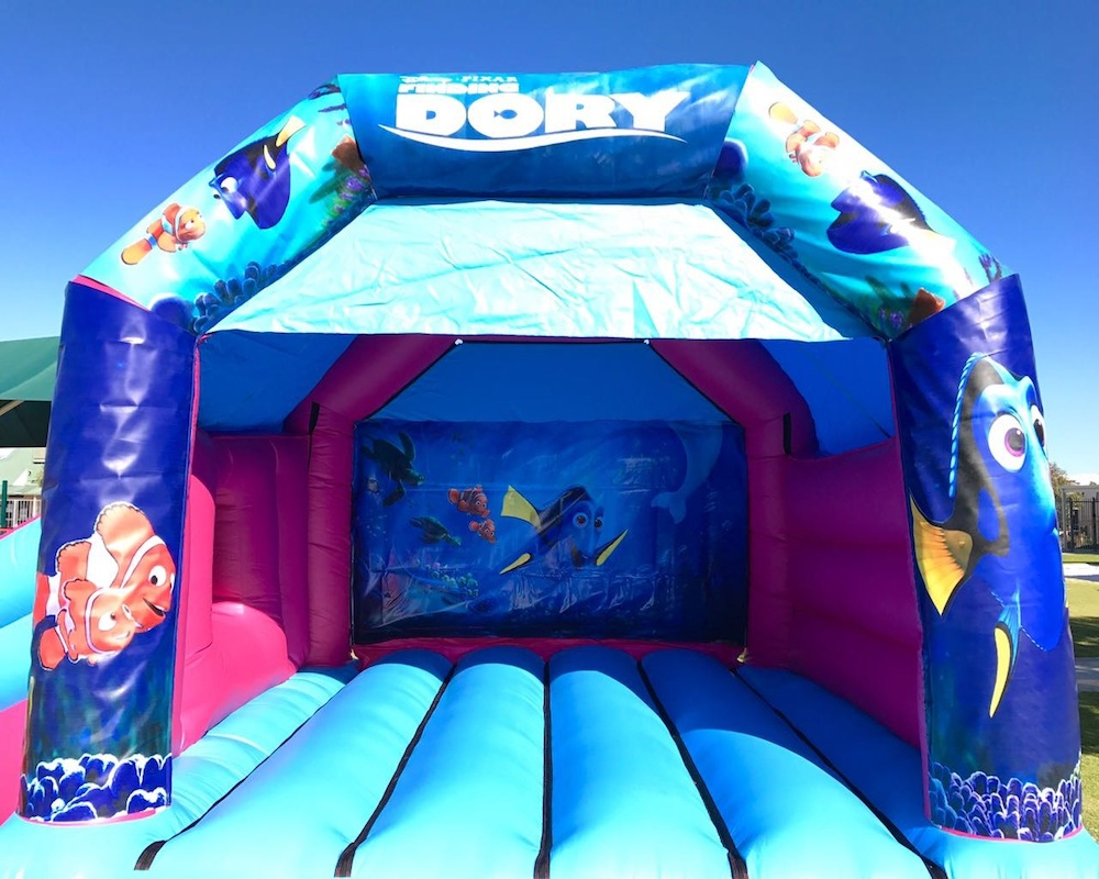 Finding Nemo / Dory Bouncy Castle hire with slide Mandurah