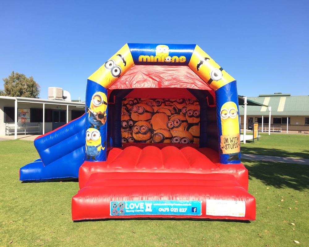 Minions bouncy castle hire with slide Baldivis