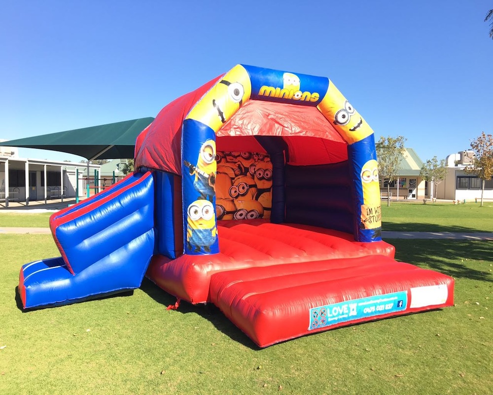 Minions bouncy castle hire with slide Mandurah