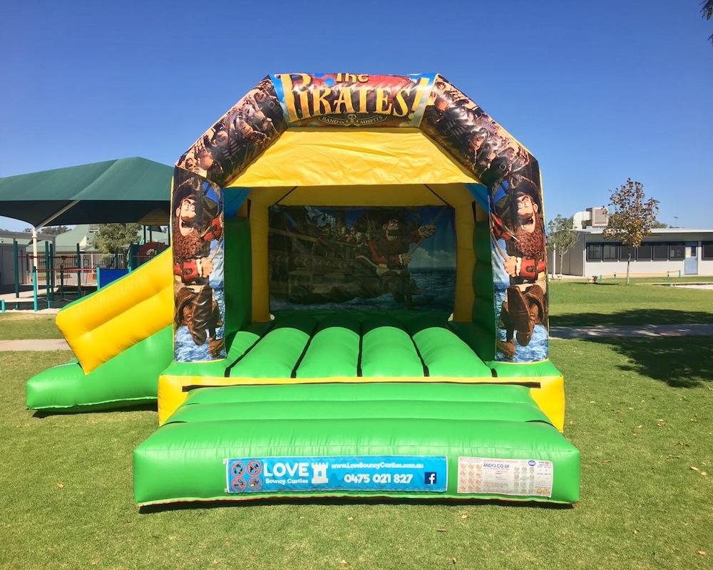 Pirates bouncy castle hire with slide Baldivis