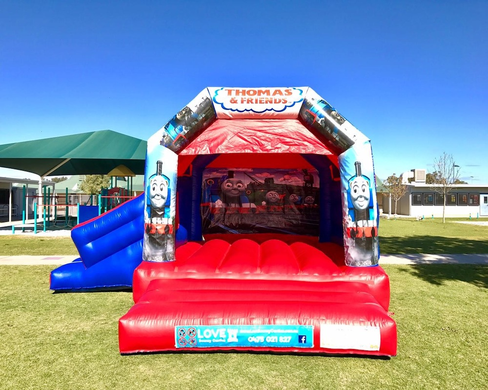 Thomas The Tank Engine bouncy castle hire with slide Baldivis