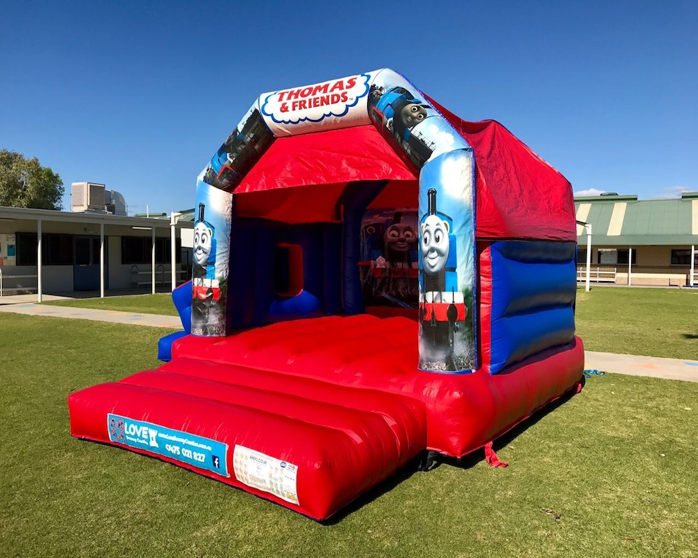 Thomas The Tank Engine bouncy castle hire with slide Rockingham