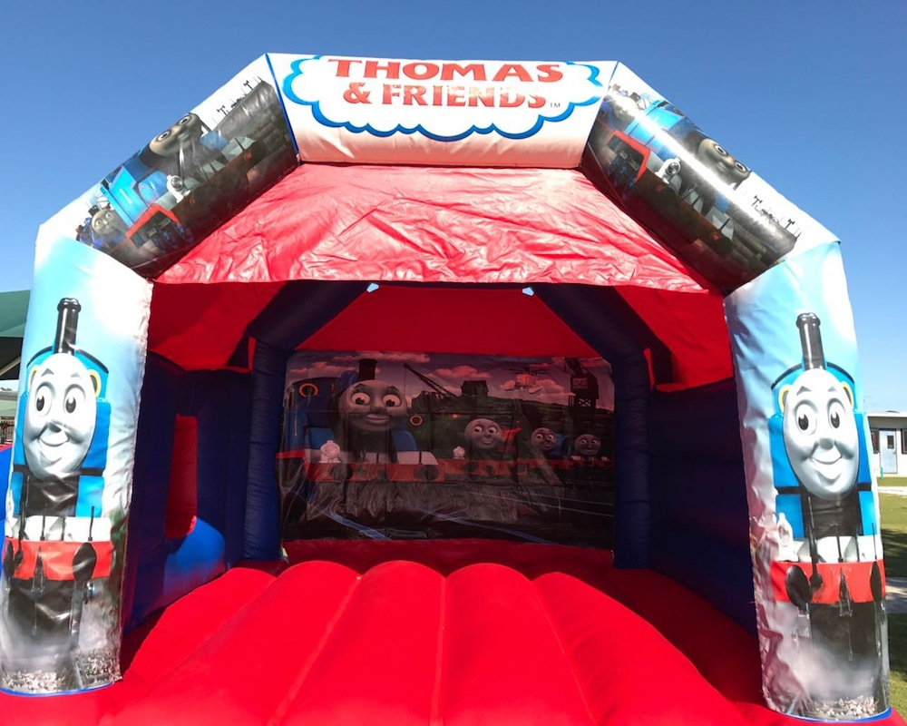 Thomas The Tank Engine bouncy castle hire with slide Mandurah