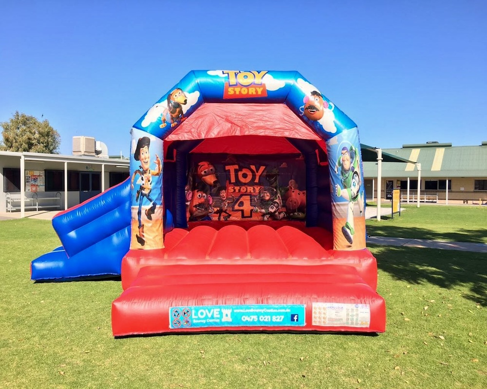 Toy Story bouncy castle hire with slide Baldivis