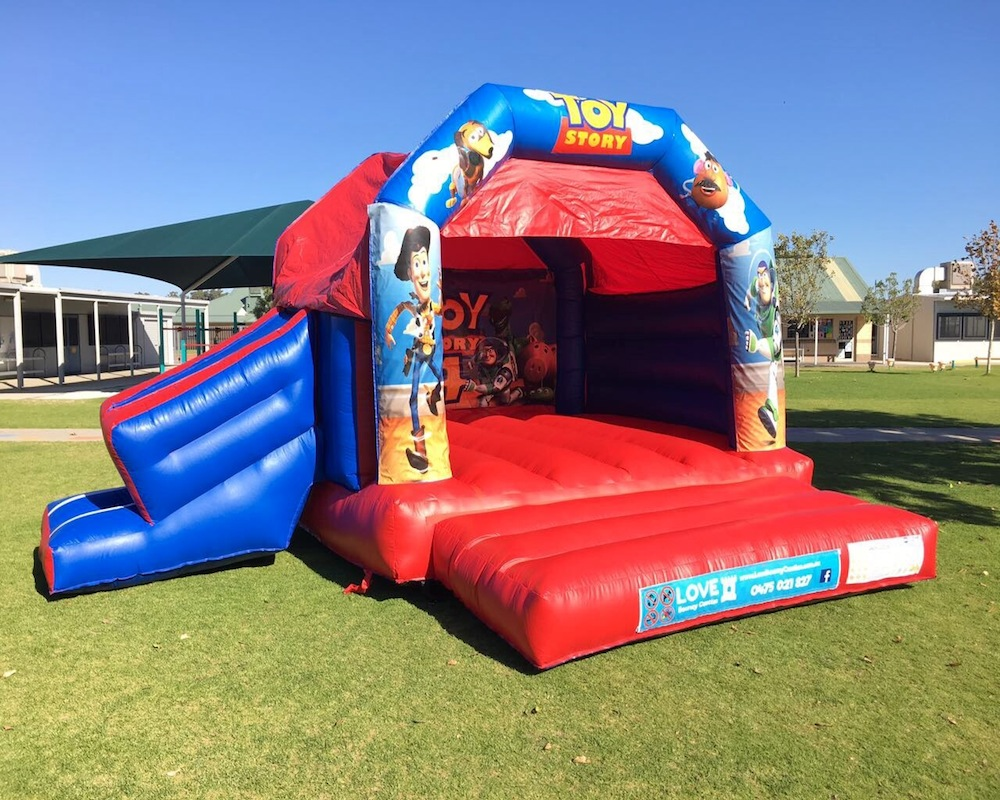 Toy Story bouncy castle hire with slide Rockingham