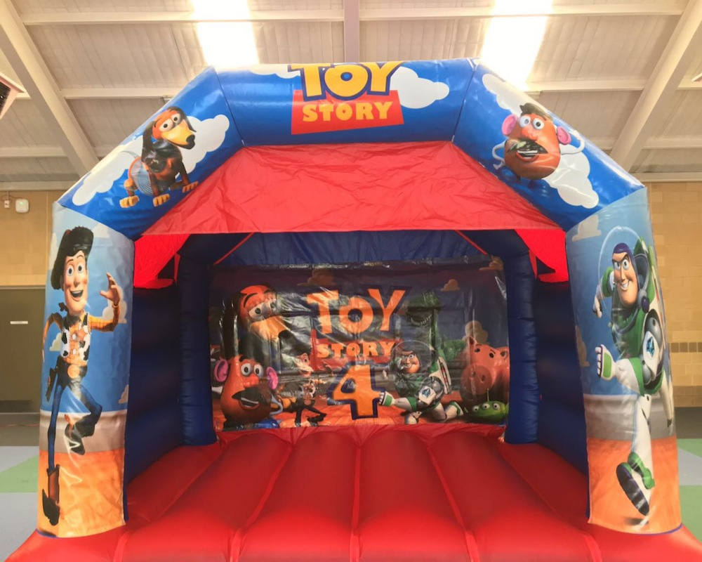 Toy Story bouncy castle hire with slide Mandurah