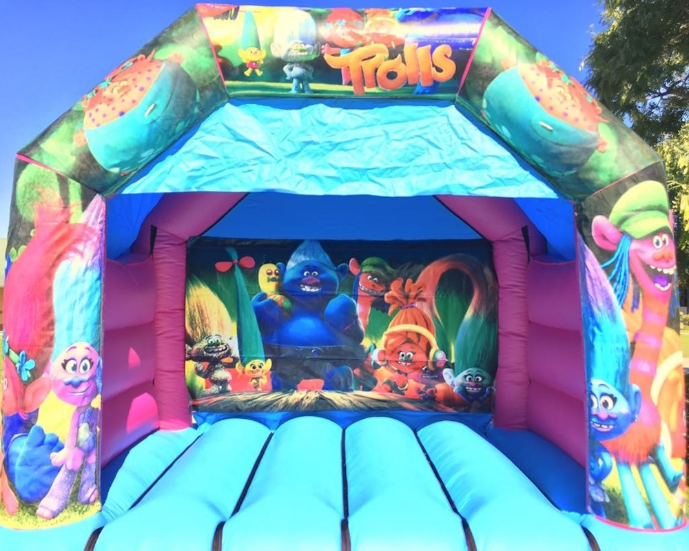 Trolls bouncy castle hire with slide Mandurah