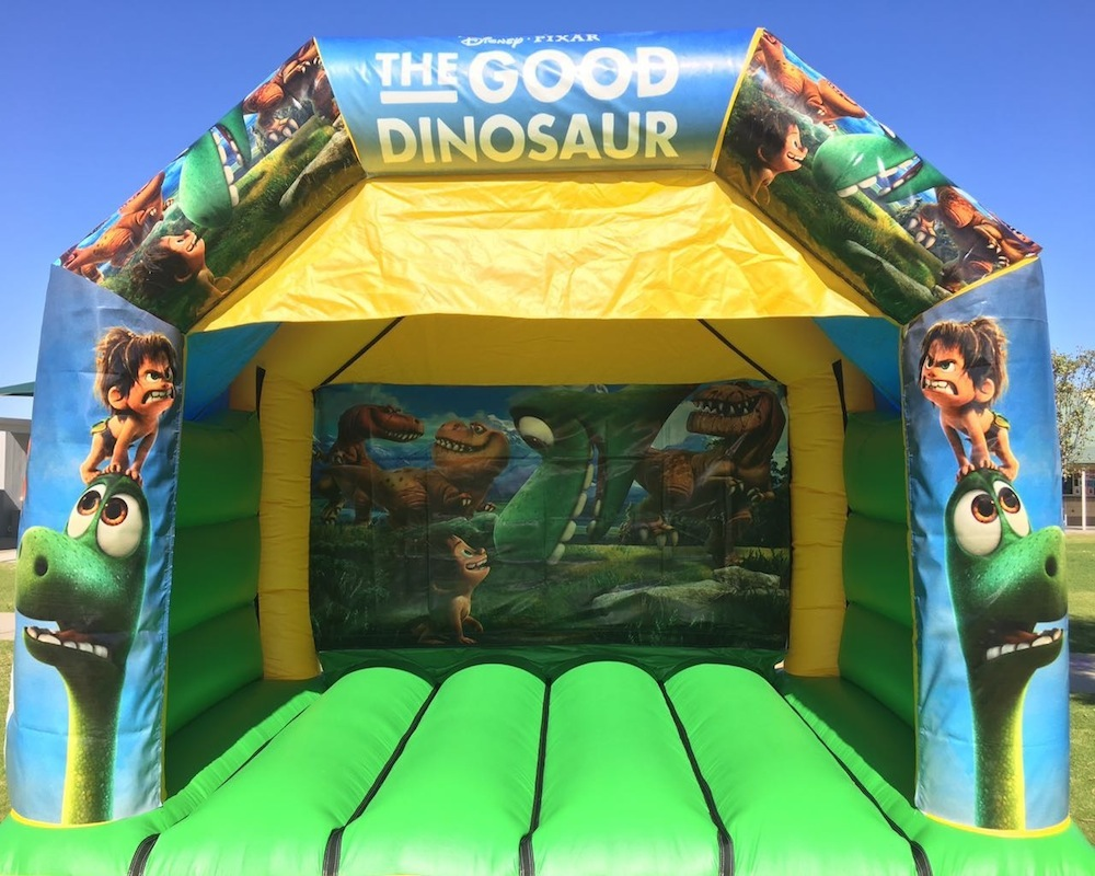 Dinosaur Bouncy Castle Hire with slide Mandurah
