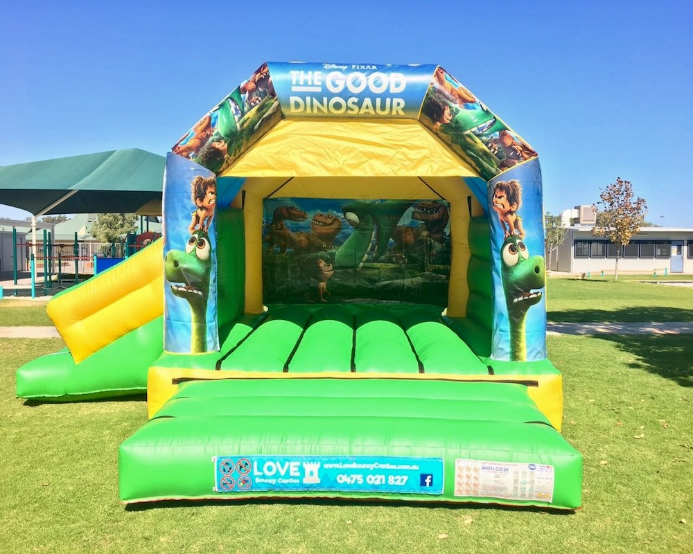 Dinosaur Bouncy Castle Hire with slide Baldivis