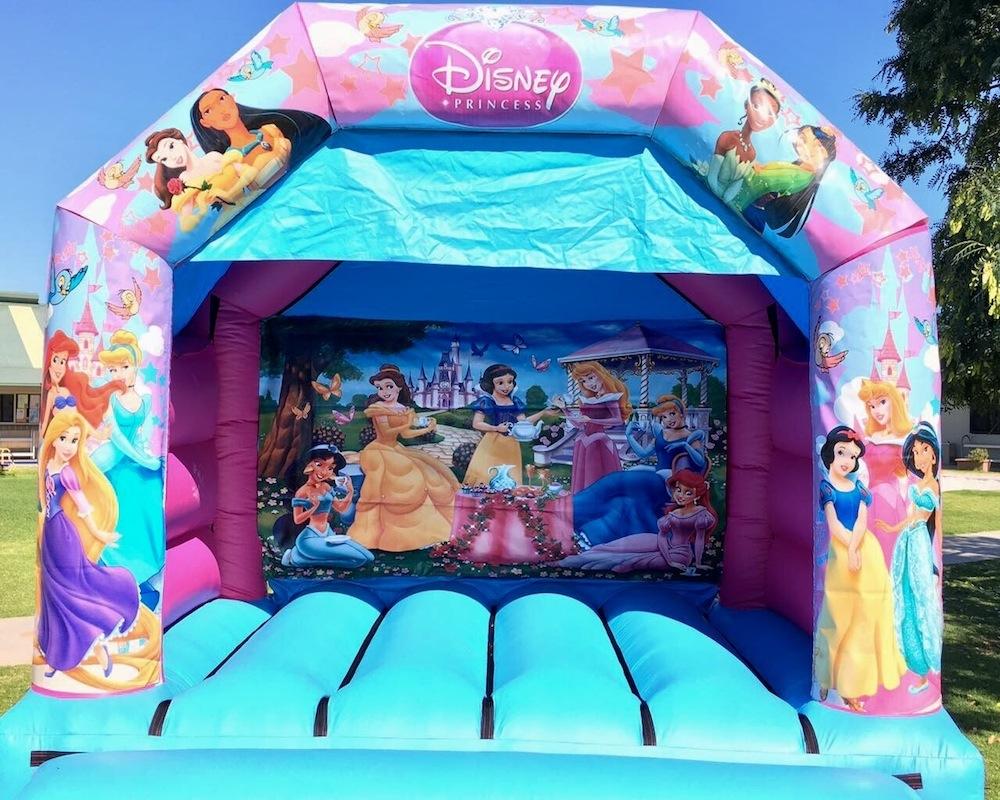 Princess bouncy castle hire with slide Mandurah