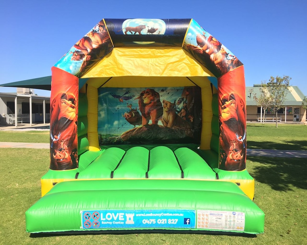 Lion king Bouncy Castle Hire Perth - Love Bouncy Castles