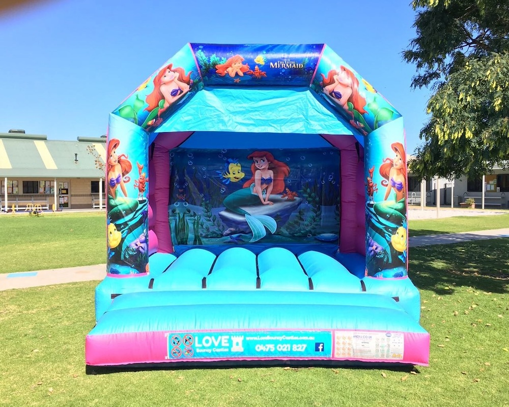 Little Mermaid Bouncy Castle Hire With Slide Perth — Bouncy Castle