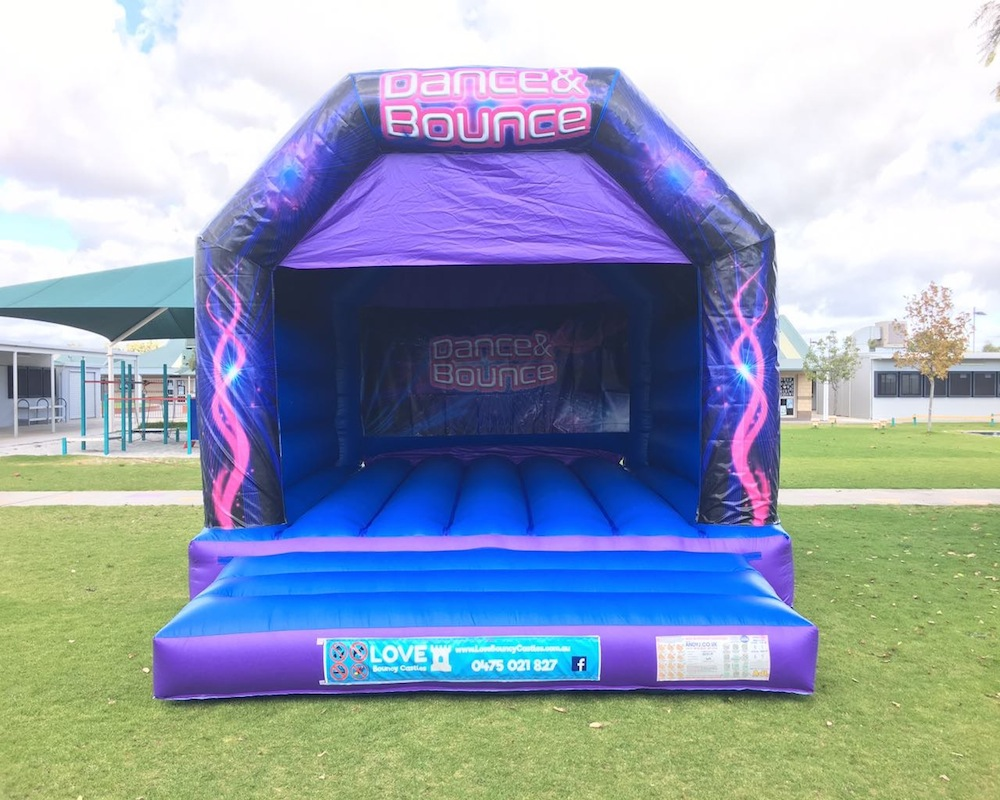 Dance and Bounce Blue Bouncy Castle