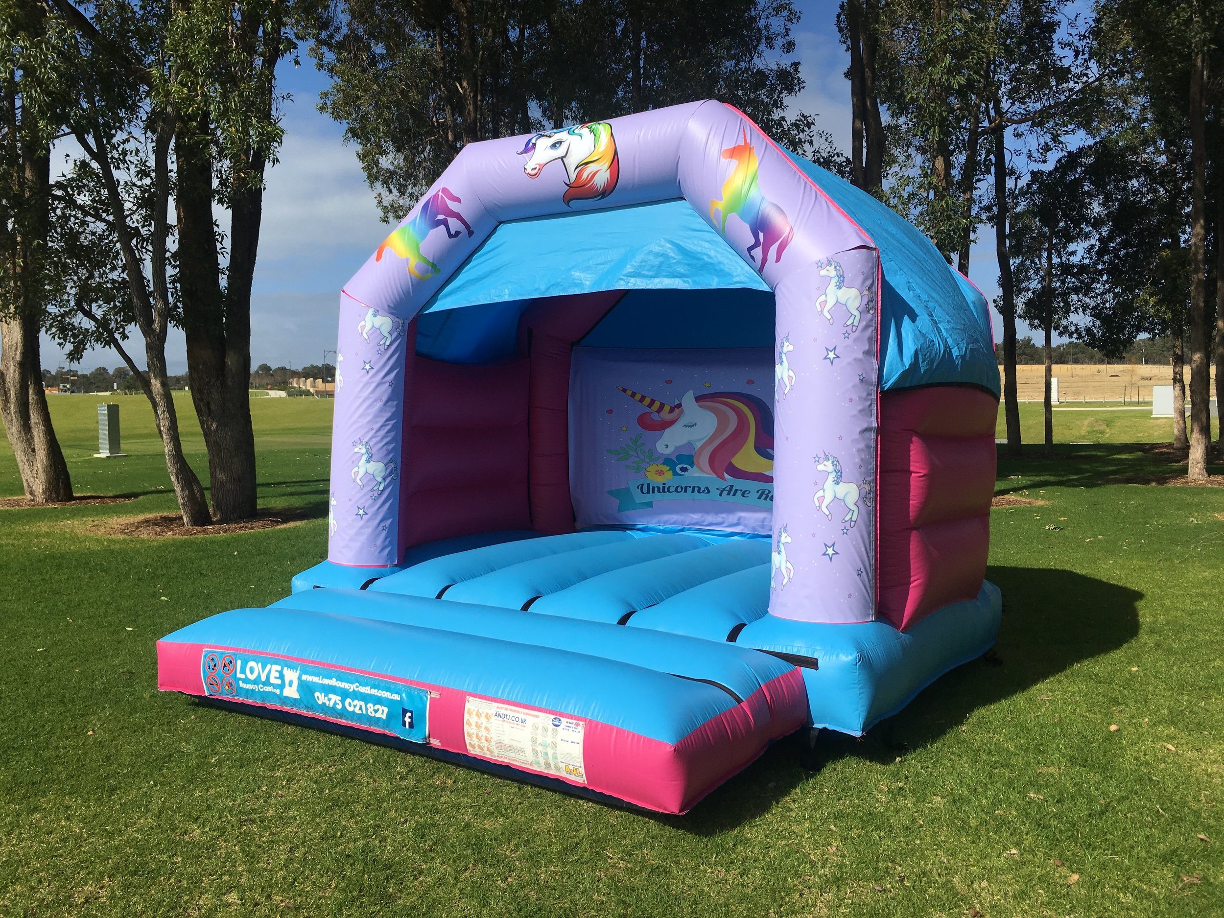 Unicorn Bouncy Castle Hire Rockingham