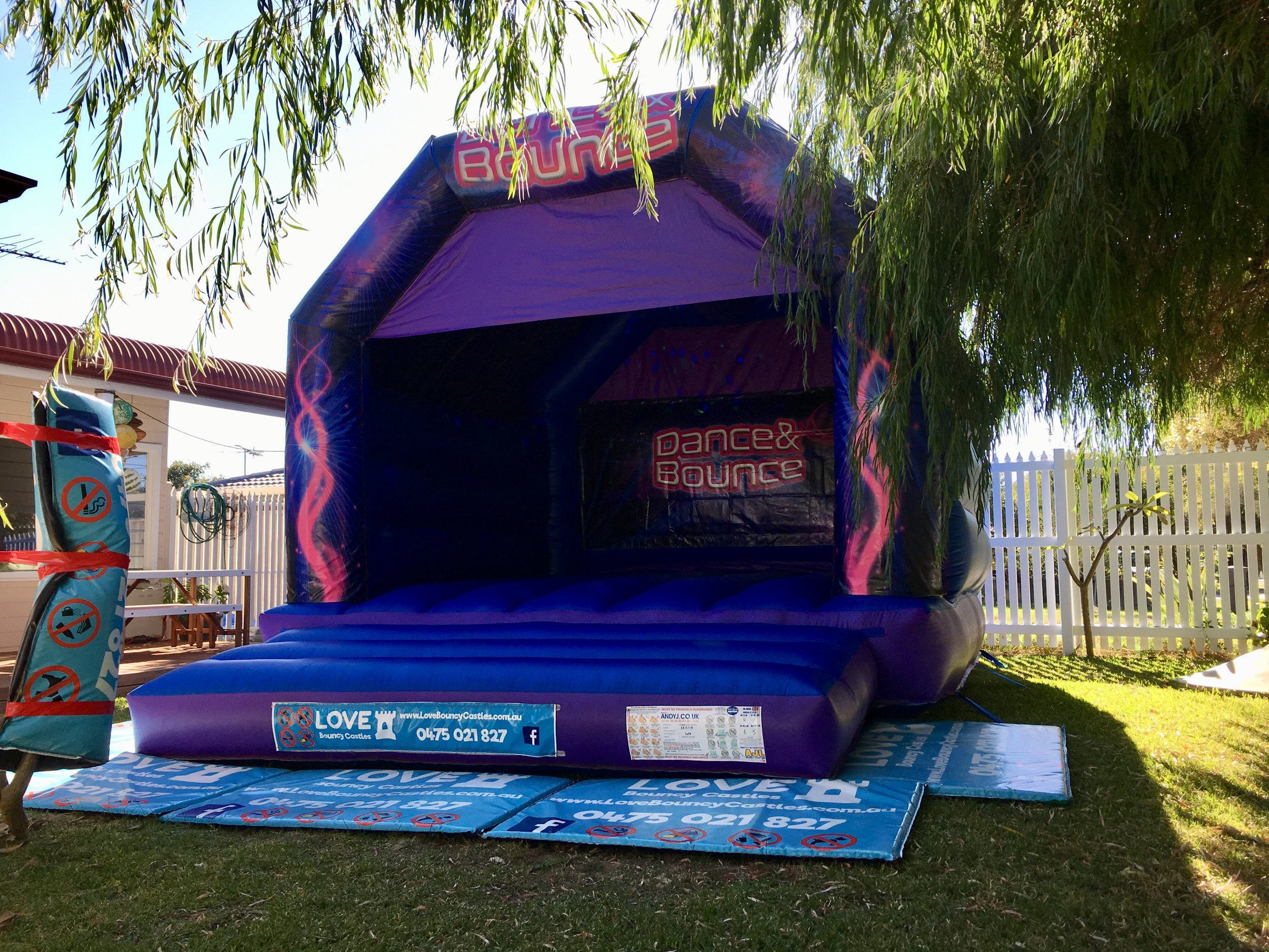 Dance And Bouncy Jumping Castle Set Up In Warnbro, Rockingham, WA