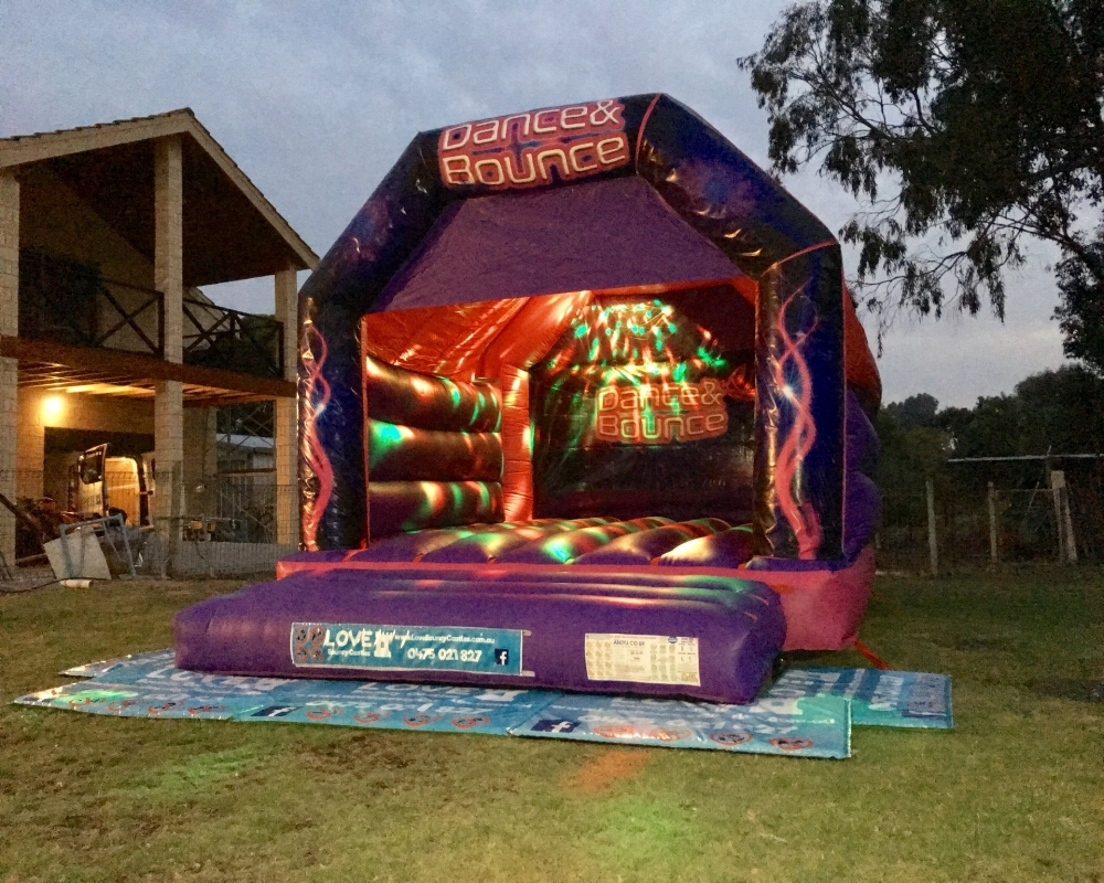 Night Hire Bouncy Castle Set Up For A 21st Birthday In Rockingham City, 6168, WA