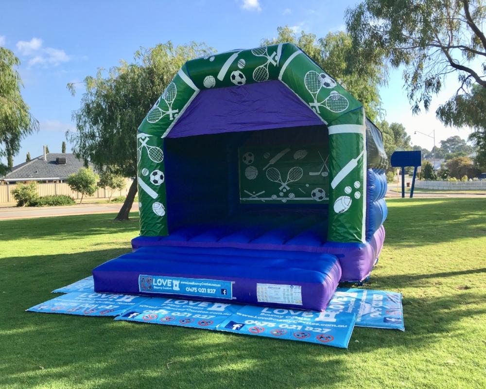 Sports Bouncy Castle Set Up For A Local Soccer Team In Secret Harbour, Rockingham
