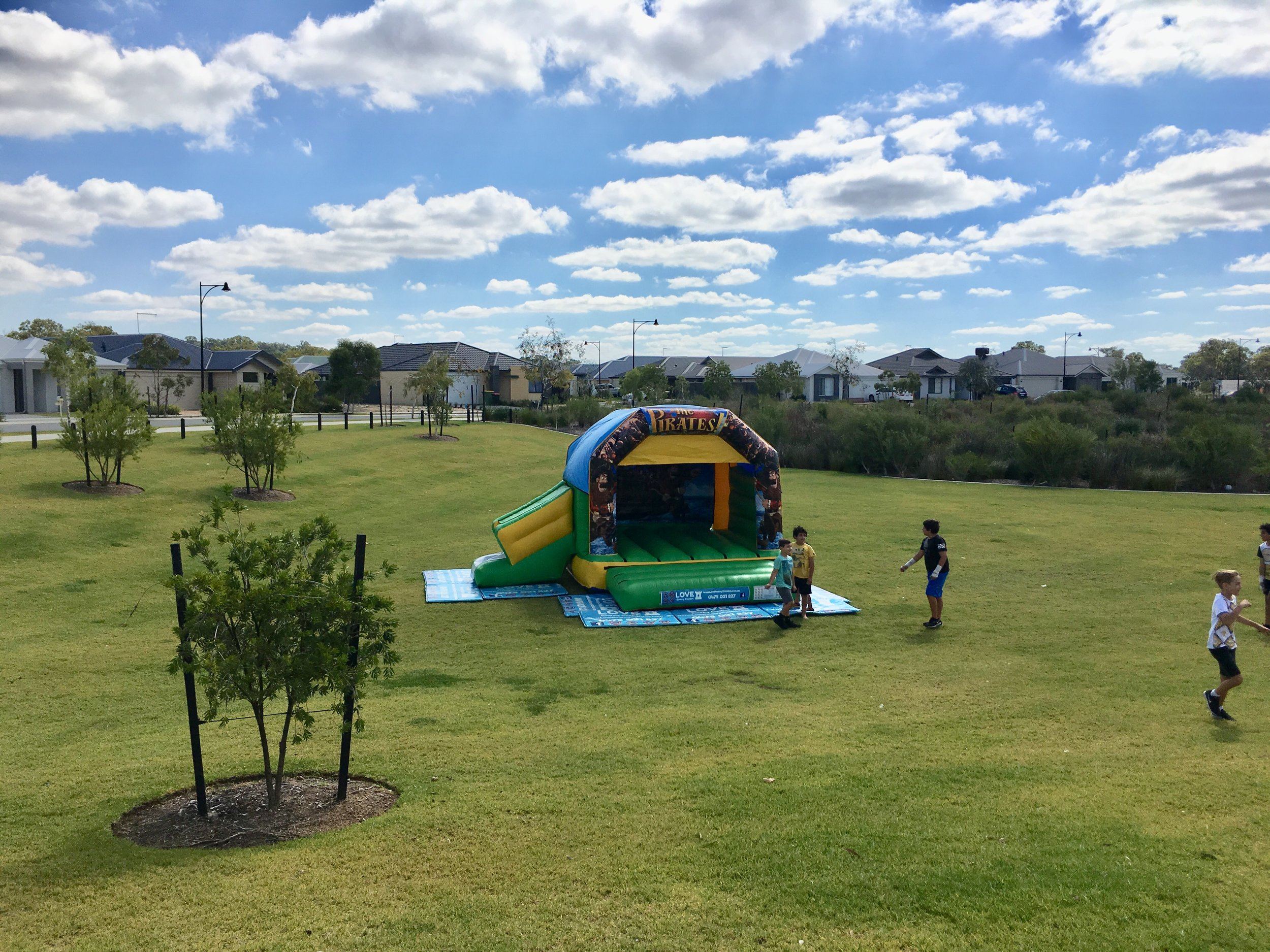 Pirates Combo Set Up In A Local Park In Baldivis, 6171, WA