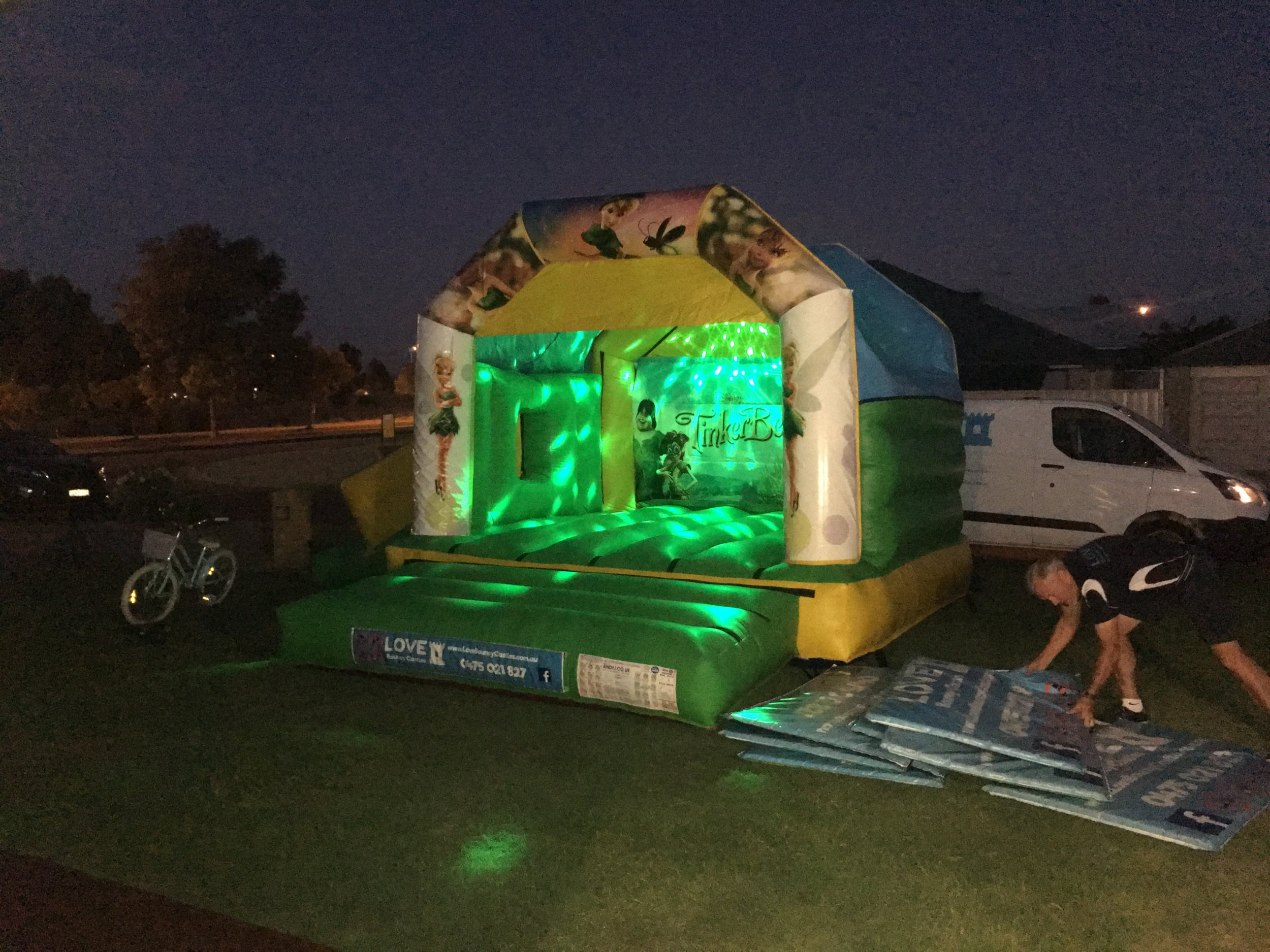 Photo Of A Combo Bouncy Castle At Night In Baldivis, 6171, WA