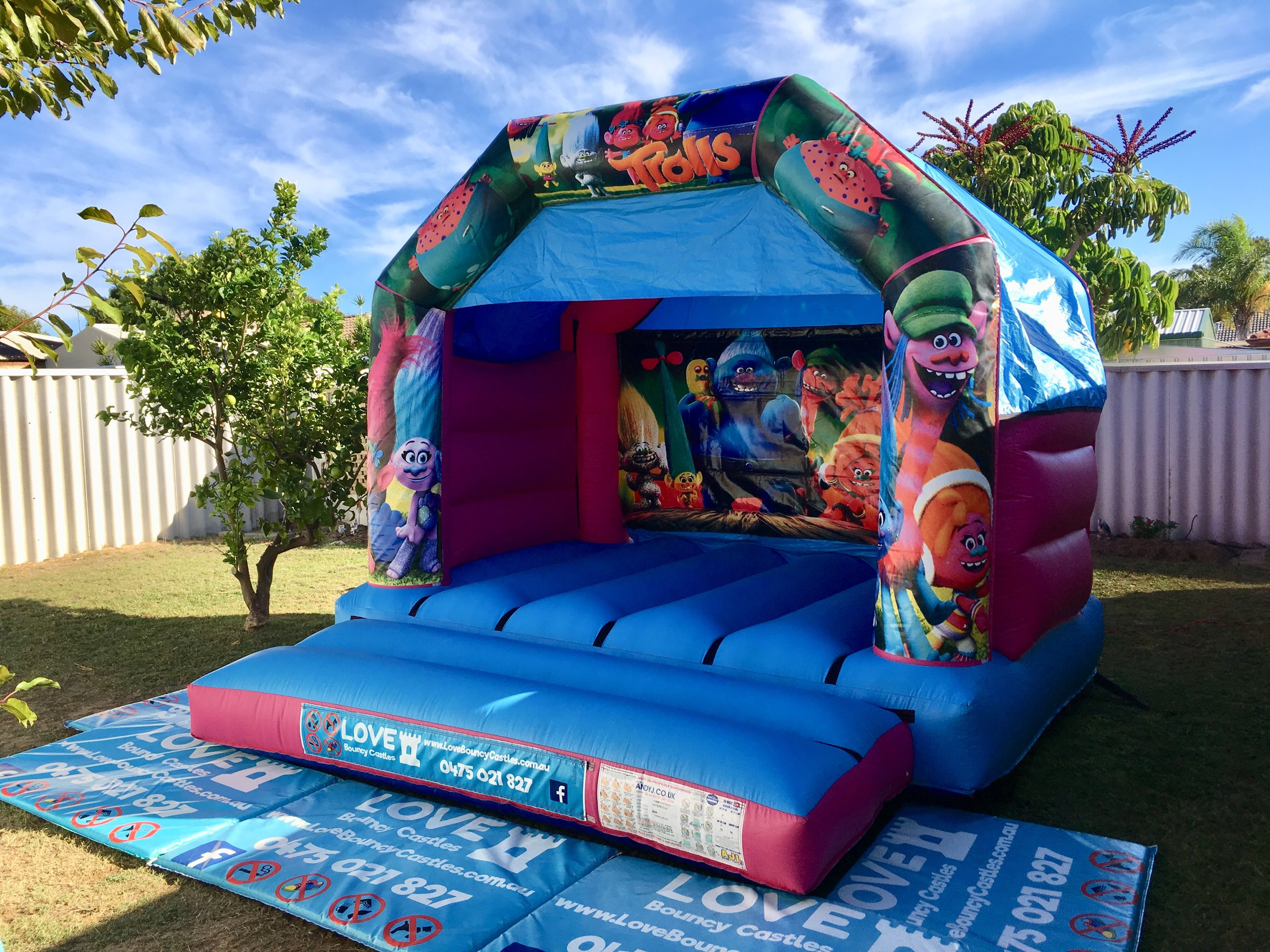 Copy of Trolls Jumping Castle Hire Set Up In Perth For A Kids Party