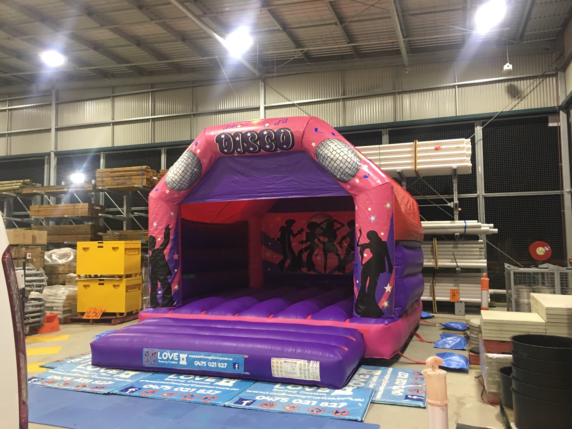 Copy of Disco Fever Pink jumping Castle Hire In Perth, WA