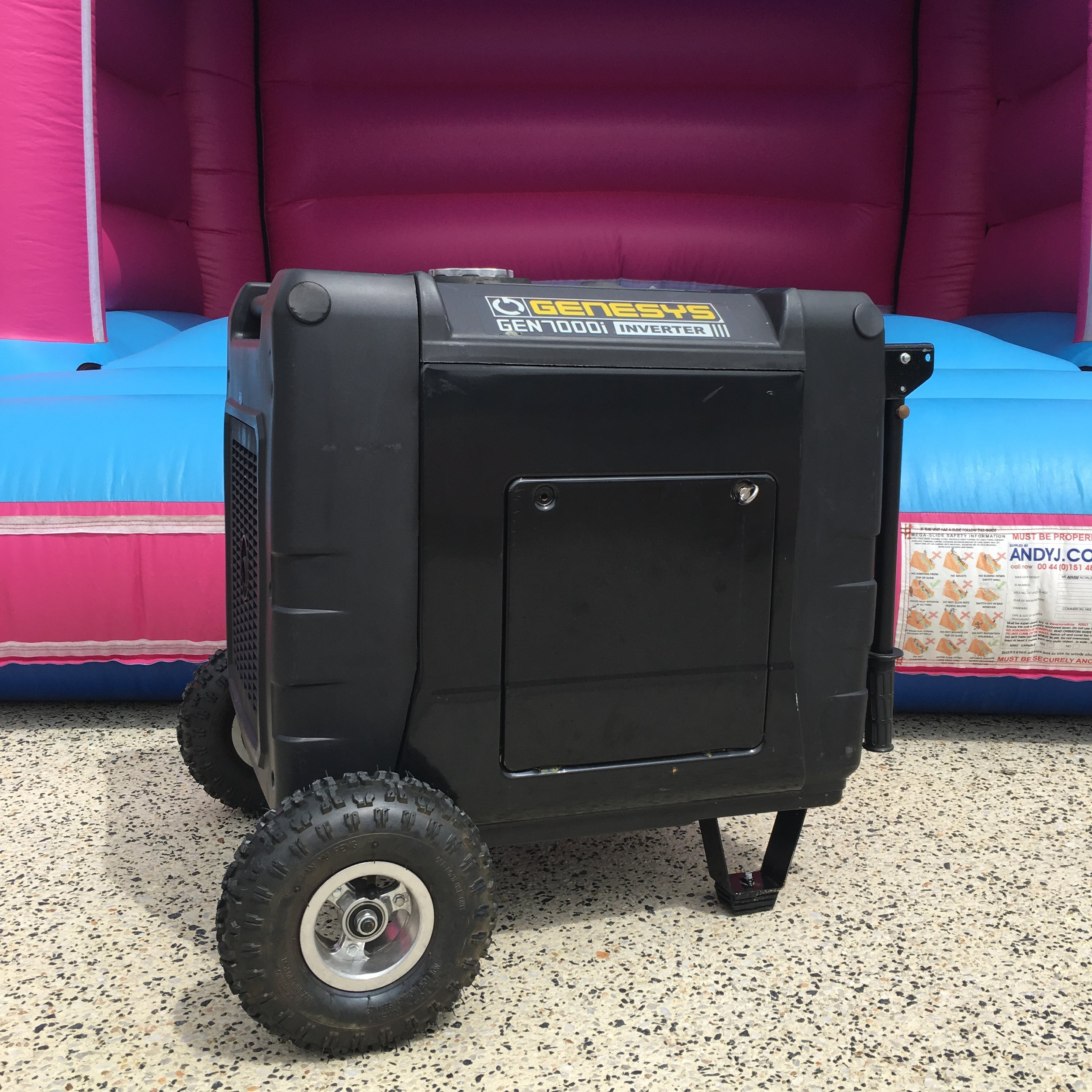 Generator Hire $40 - Generator Hire is required when we have no access to power. This is mainly used at events and parties that are set up in your local park. The generator comes with enough fuel for a 4 hour hire. Extra fuel can be arranged if your event or party is going on for a longer period