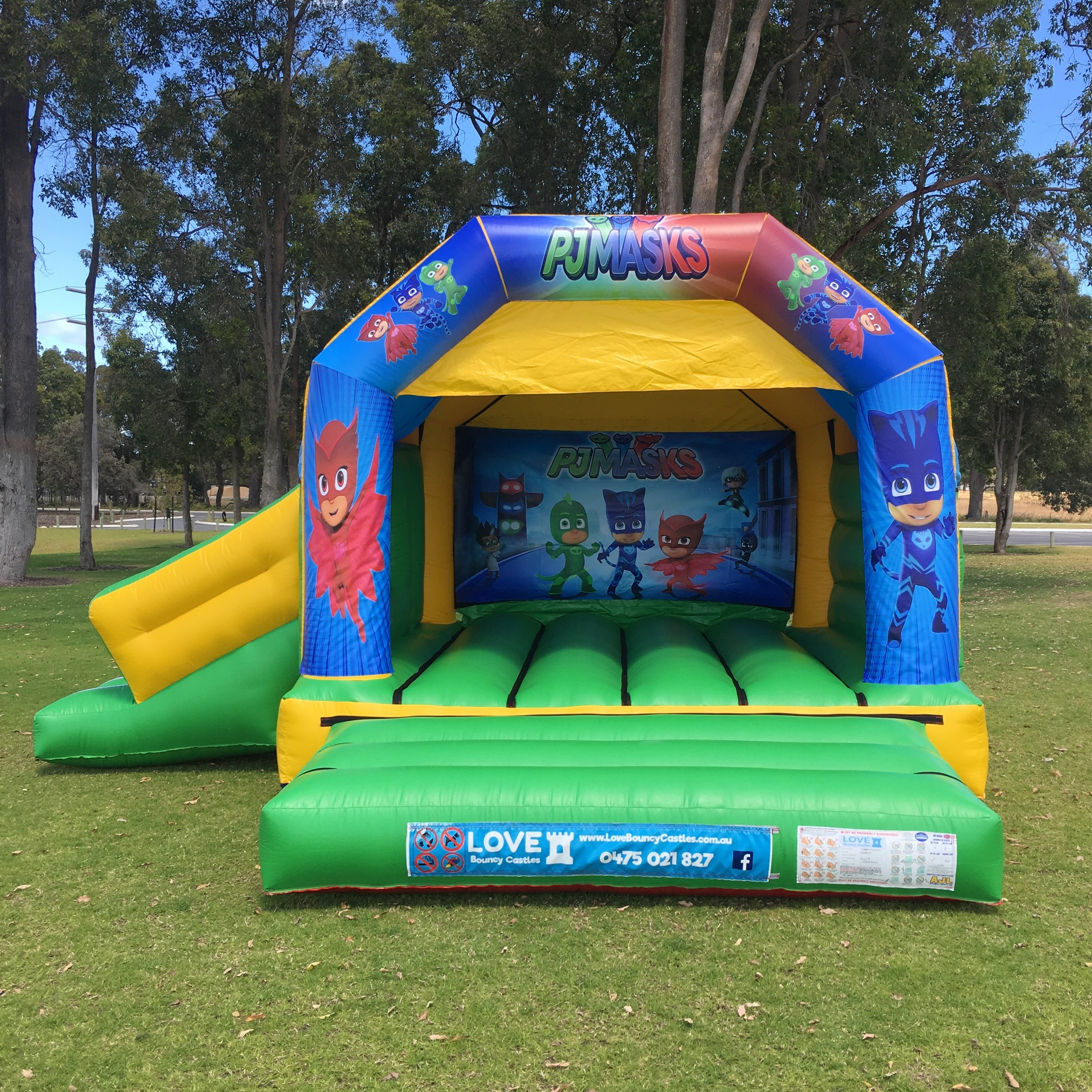 PJ Masks Bouncy Castle Hire With Slide Baldivis