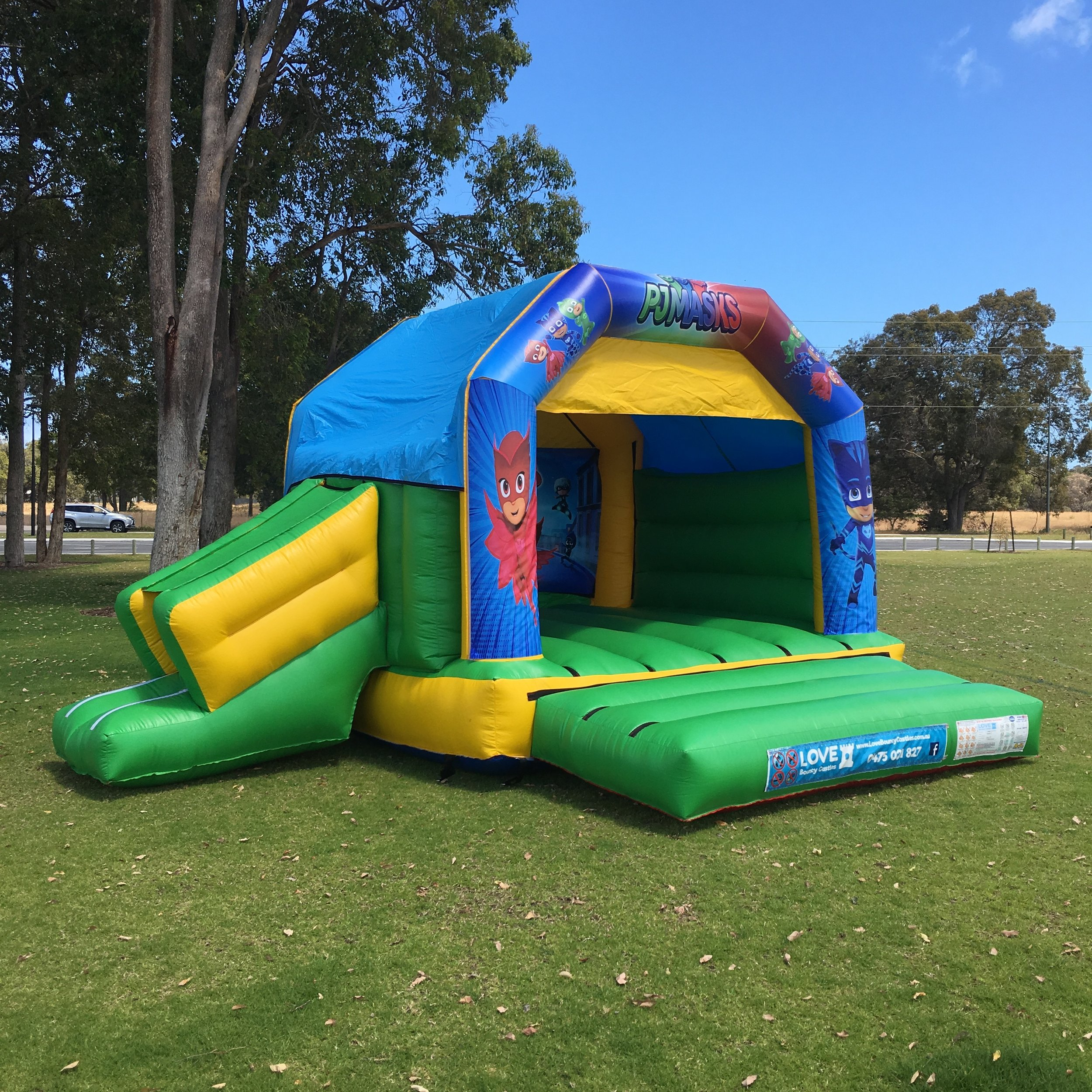 PJ Masks Bouncy Castle Hire With Slide Rockingham