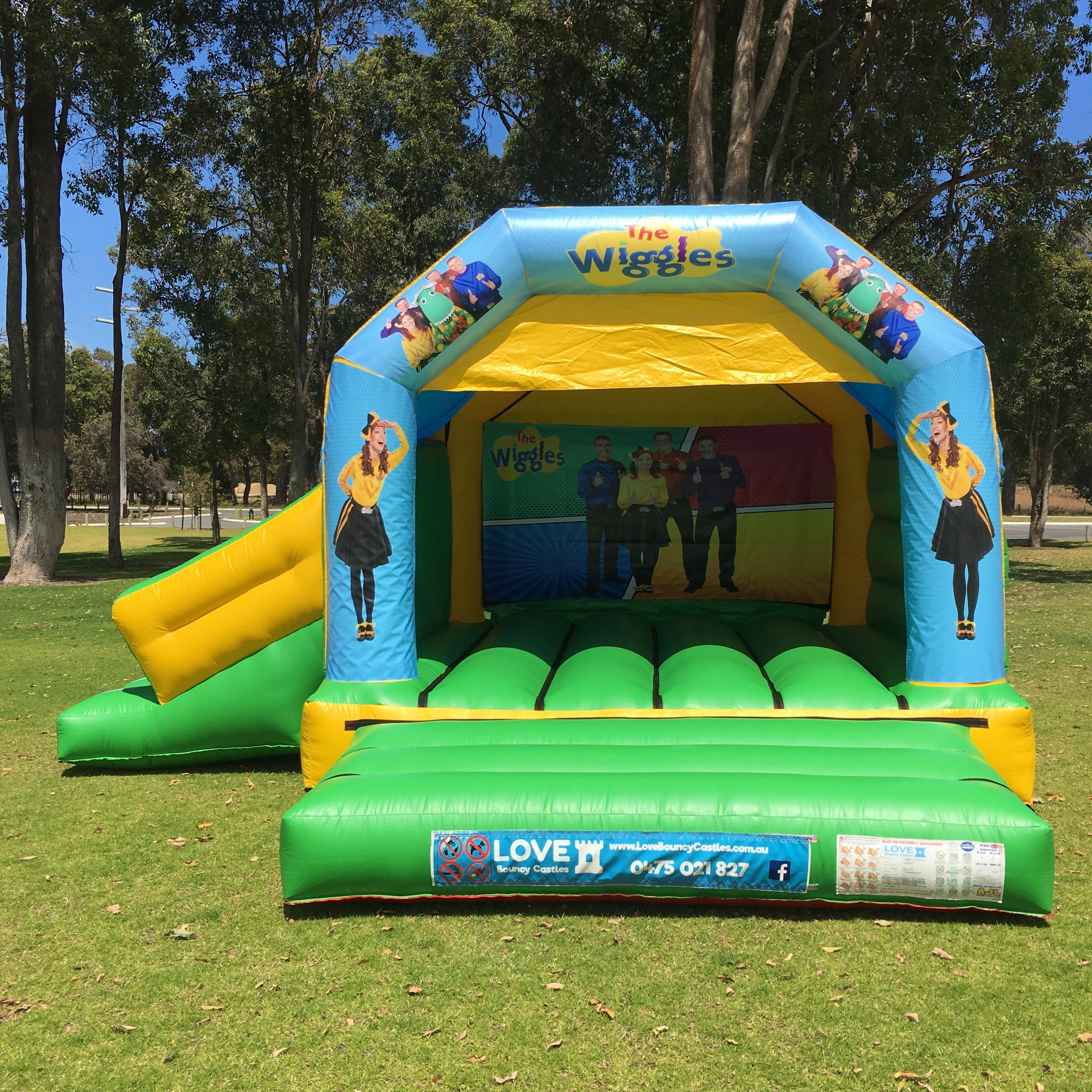 Wiggles Bouncy Castle With Slide Baldivis