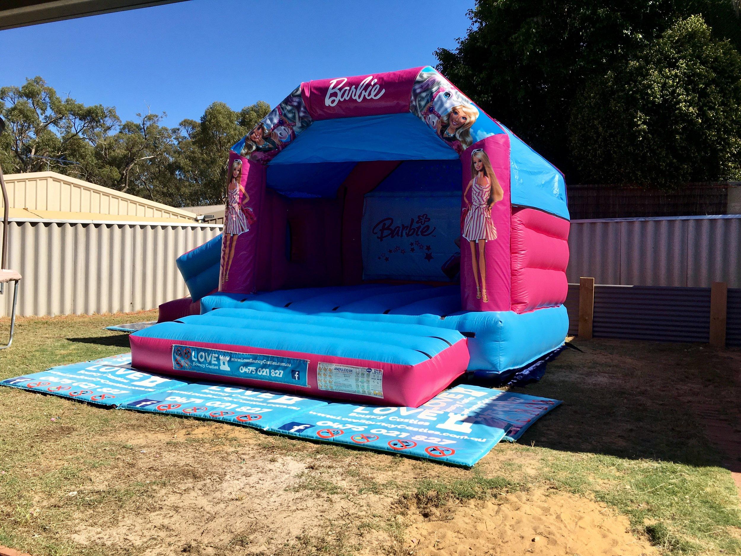 Barbie Bouncy Castle Set Up For A Customer In Mandurah, 6210 , WA